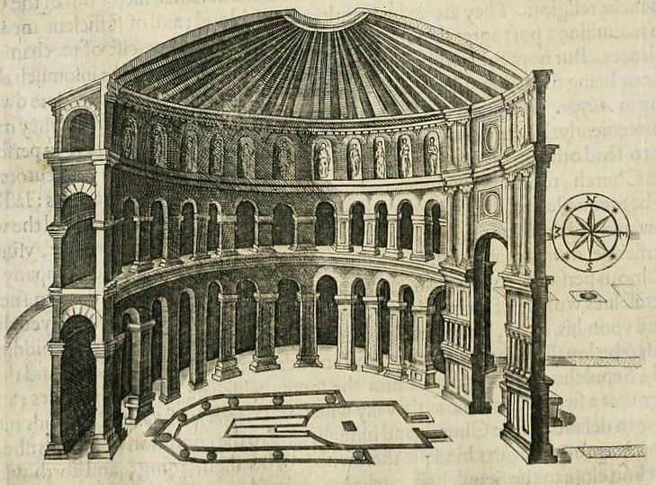 Схема ротонды Храма Гроба