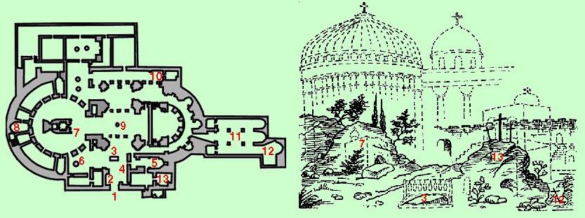 Храм Гроба Господня: план и