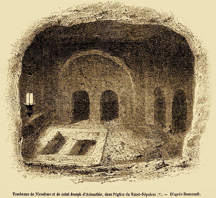 в храме Гроба Господня.
