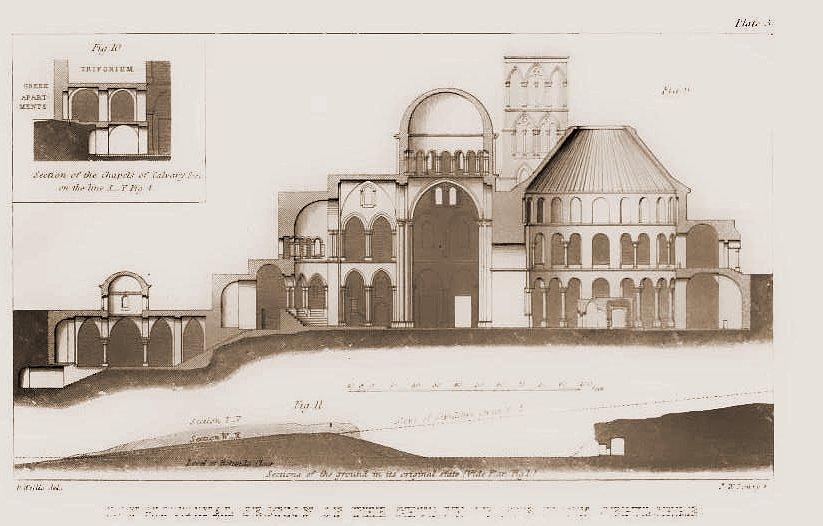 План-разрез Храма Гроба